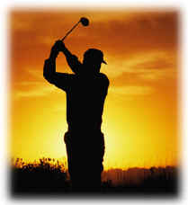 Golfer In Sunset